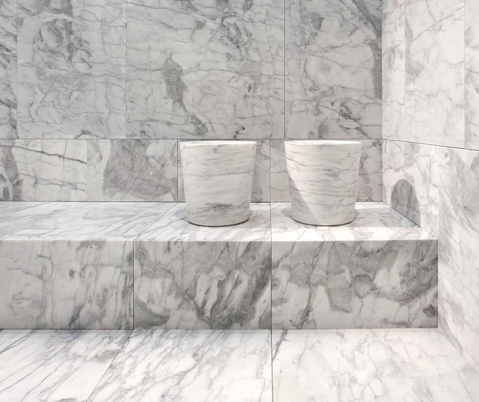 Italian marble roman style spa