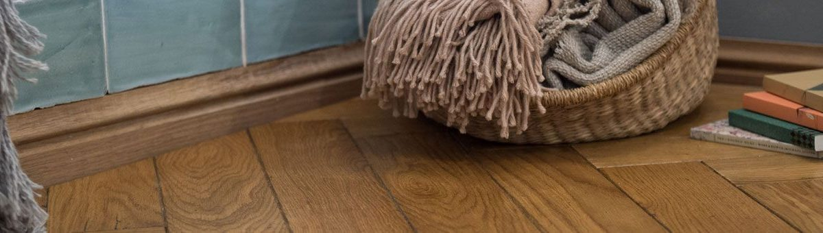 engineered oak flooring being cleaned