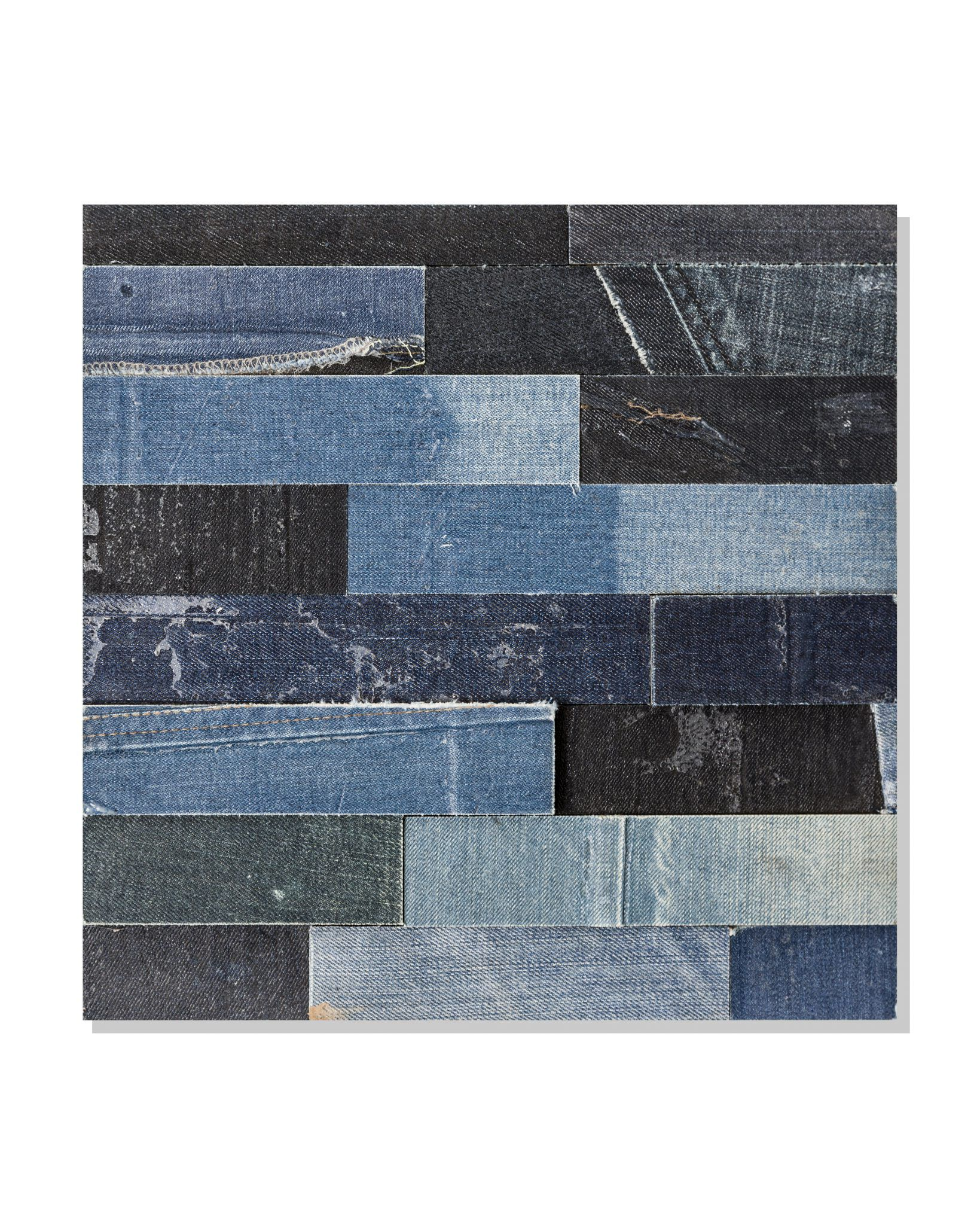 fabric wall cladding - Indigenous recycled jeans cladding