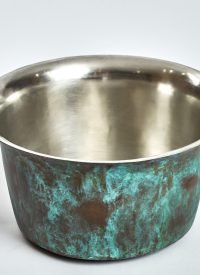 oxidised copper countertop basin sink