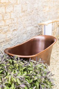 antique bronze bath outside