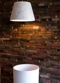 rustic wood barrels cladding