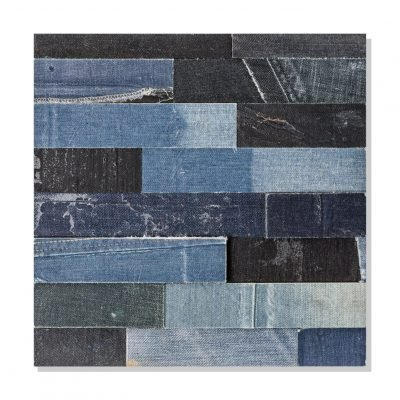 recycled jeans wall cladding