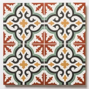 bibao encaustic patterned tile swatch