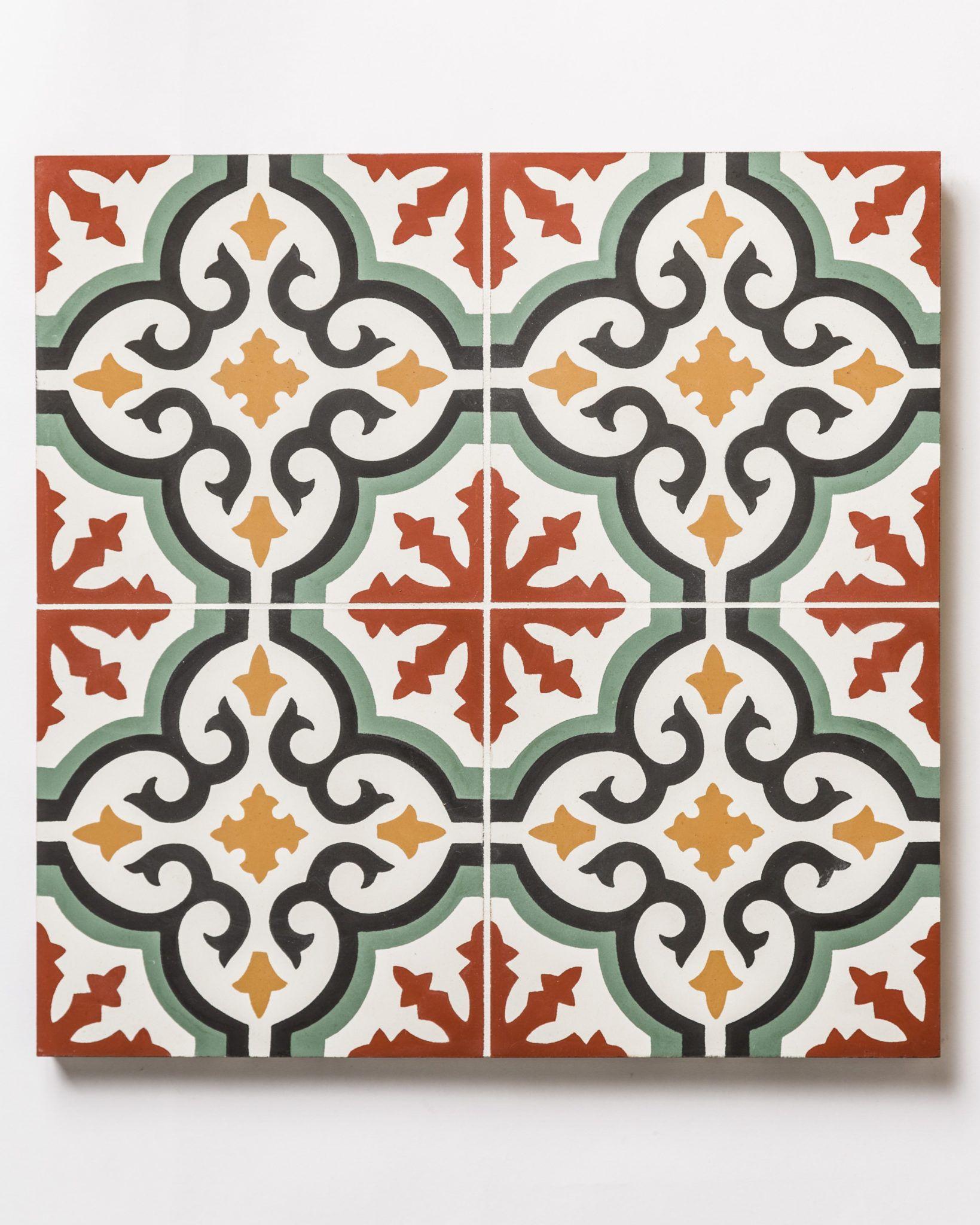 bibao encaustic patterned tile swatch
