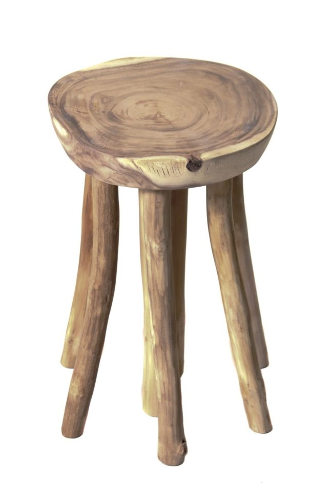 reclaimed teak stool