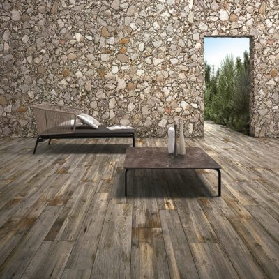 wood effect porcelain tiles - hazelnut