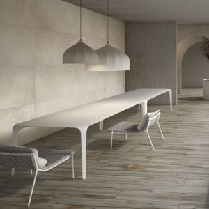 Grey wood effect porcelain tiles mushroom