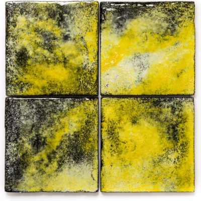 yellow patterned tiles - yellow sun glazed wall tiles