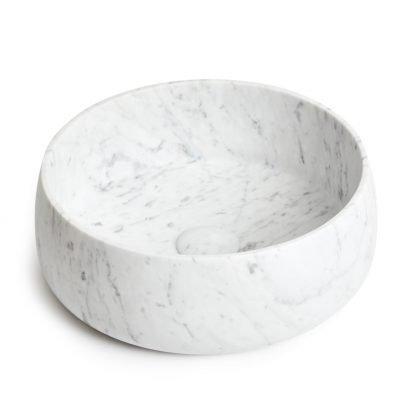 carrara stone round basin