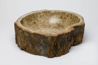 petrified wood basin sink
