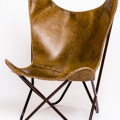 leather butterfly chair UK