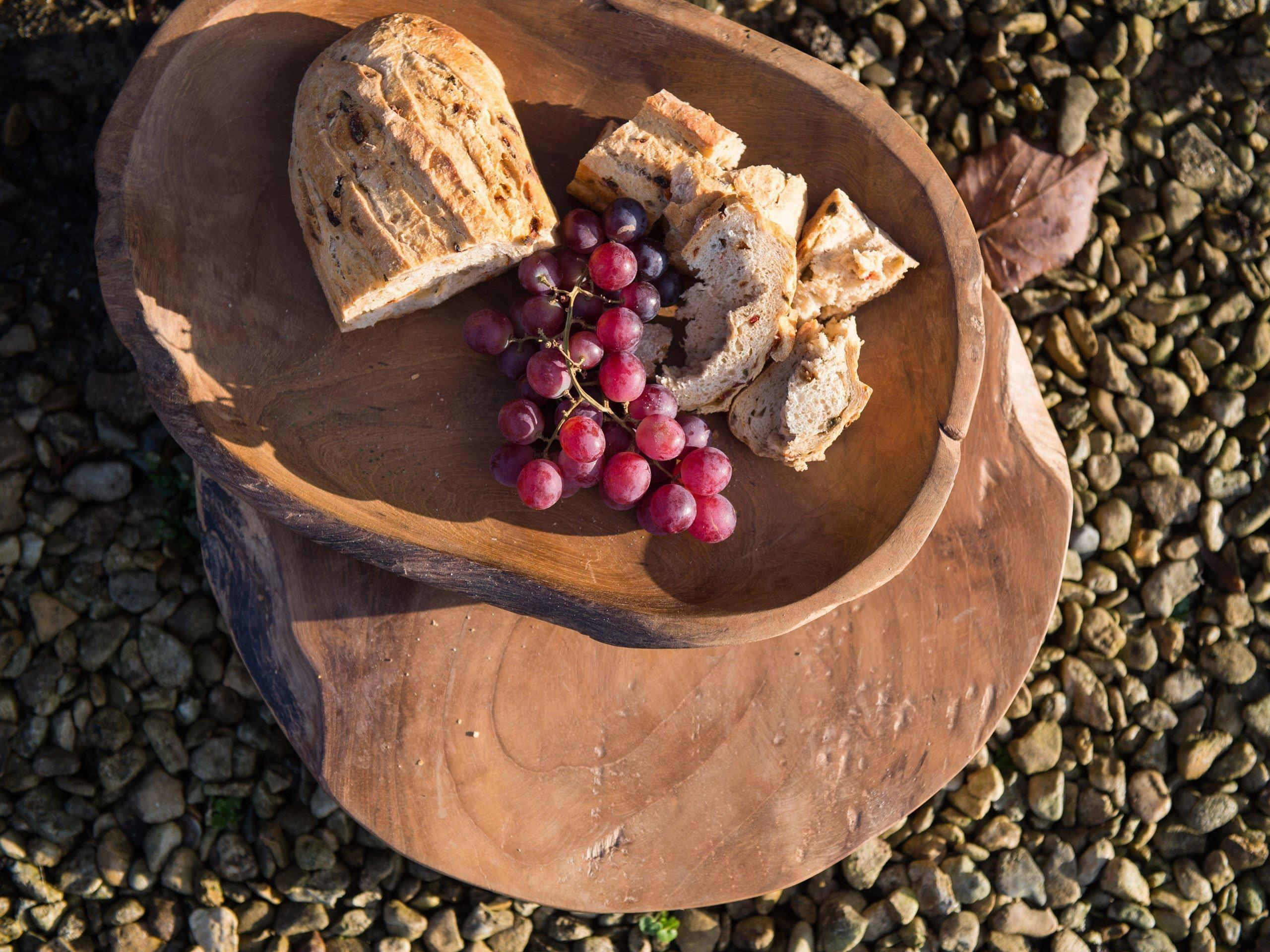 petrified wooden tray