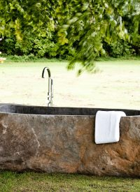 riverstone bath outdoors