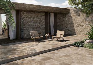 porcelain tiles outdoors