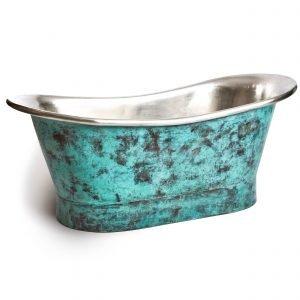 turquoise bath - oxidised copper bath